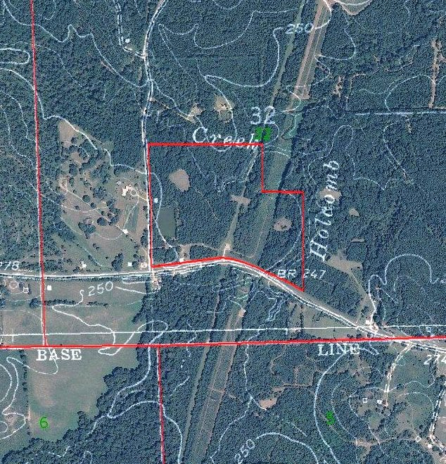 52.6 acres Copiah County Aerial