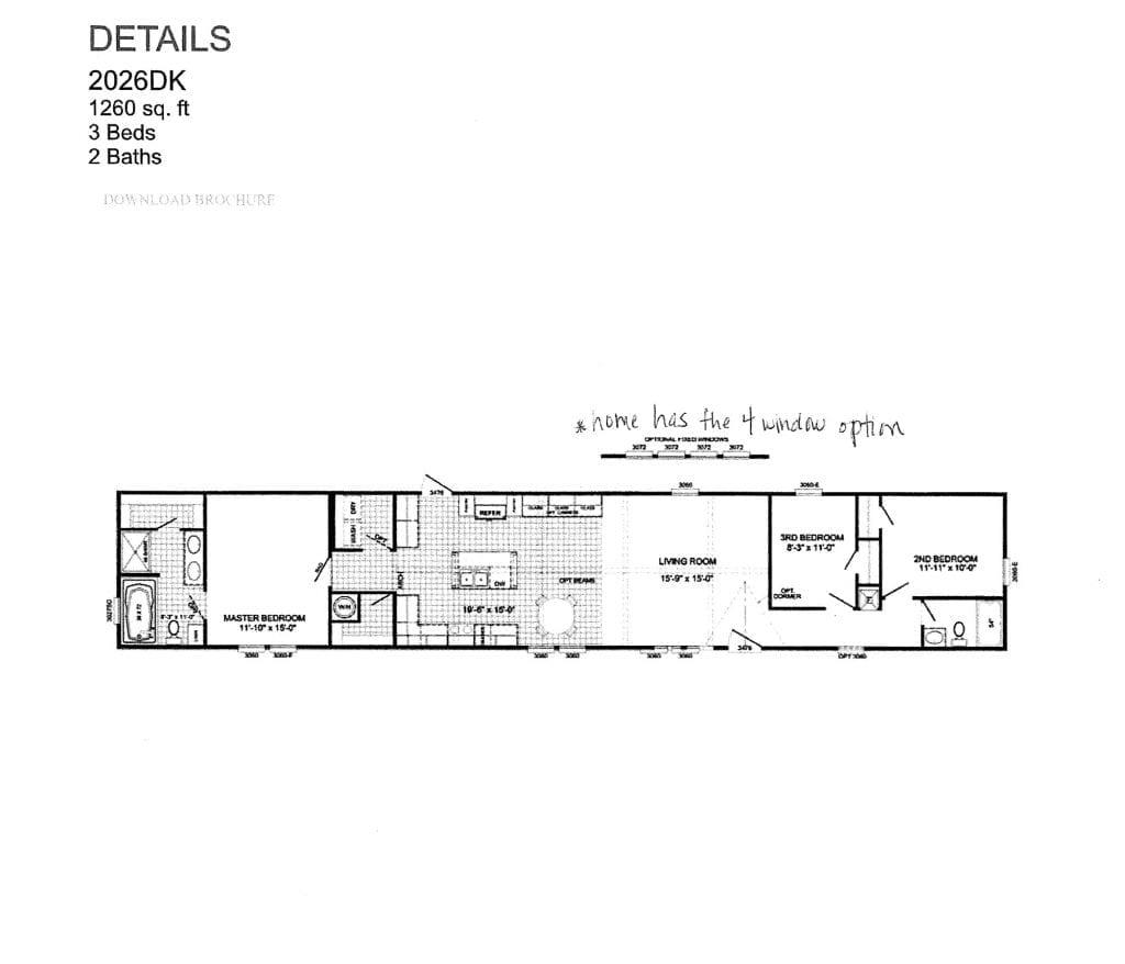 Mobile Home Floorplan 1024x878 1